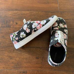 JustFab Floral Sneakers